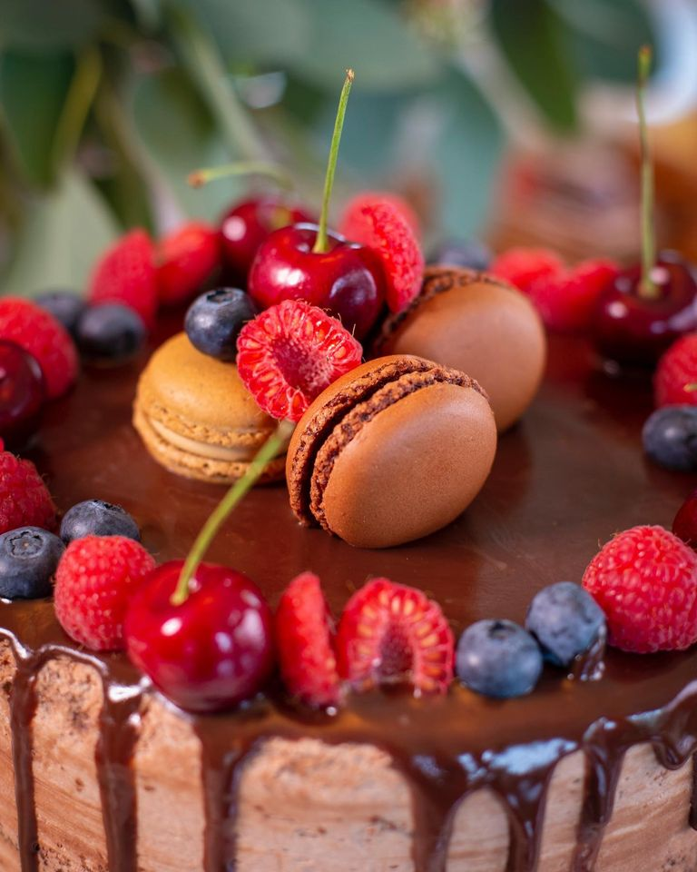 sjokoladekake med bringebær solungmat and the cakemakers